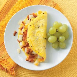 Potato Bacon Omelet Recipe