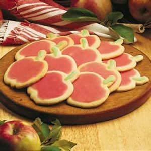 Apple Cutout Sugar Cookies Recipe