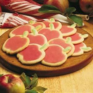 Apple Cutout Sugar Cookies Recipe