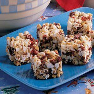 Cranberry Popcorn Bars Recipe