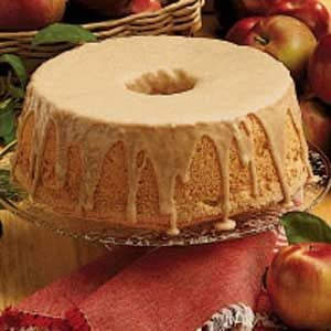 Cinnamon-Apple Angel Food Cake Recipe