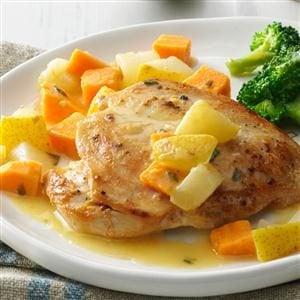 Chicken with Pear & Sweet Potato Recipe