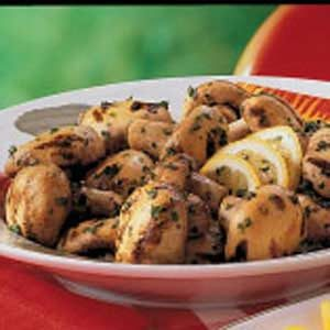 Lemon Garlic Mushrooms