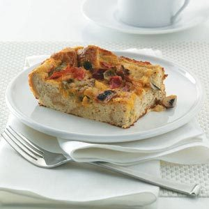 Hearty Pepper Strata Recipe