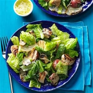 Chicken & Onion Caesar Salad