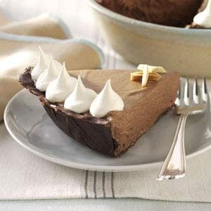 Chocolate-Amaretto Mousse Pie Recipe