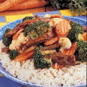 Stir-Fried Steak and Veggies Recipe