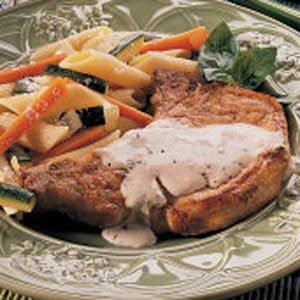Pork Chops with Herbed Cream Sauce Recipe