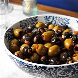 Marinated Almond-Stuffed Olives Recipe