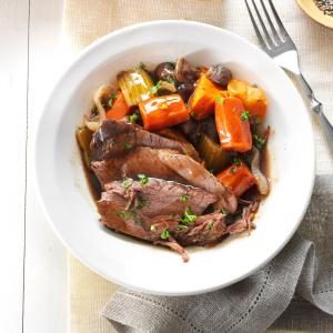 Beer-Braised Roast with Root Vegetables Recipe