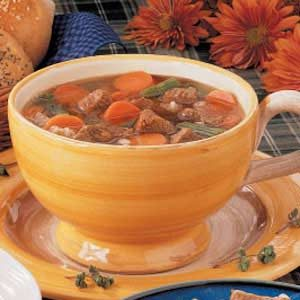 Herbed Beef Barley Soup Recipe
