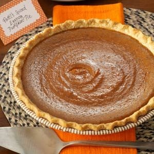 Spiced Eggnog Pumpkin Pie Recipe