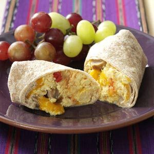 Sausage & Salsa Breakfast Burritos Recipe