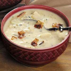 Cheesy Wild Rice Soup Recipe