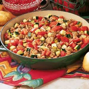 Turkey Vegetable Skillet Recipe