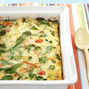 Garden Veggie Egg Bake Recipe