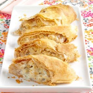 Blue Cheese-Apple Strudels Recipe