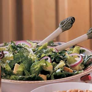 Flavorful Lemony Caesar Salad Recipe