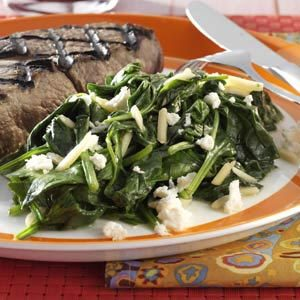 Spinach & Feta Saute Recipe
