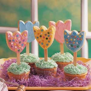 Frosted Tulip Cookies Recipe