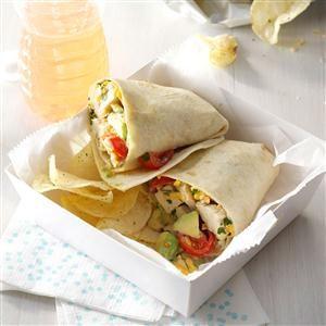 Avocado-Ranch Chicken Wraps Recipe