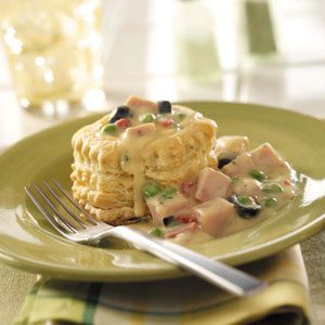 Ham a la King with Peas Recipe