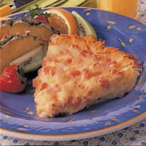 Hash Brown Ham Quiche