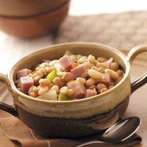 Hearty Bean Soup with Ham Recipe