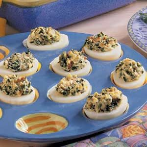 Spinach Deviled Eggs Recipe