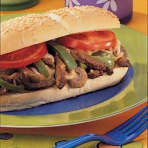 Mushroom Steak Hoagies Recipe