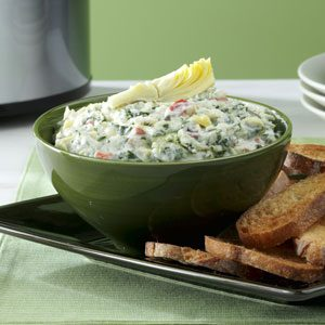 Cheese-Trio Artichoke & Spinach Dip Recipe