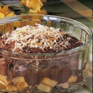 Coconut Chocolate Trifle Recipe
