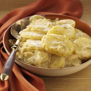 Au Gratin Potatoes with Green Chiles Recipe