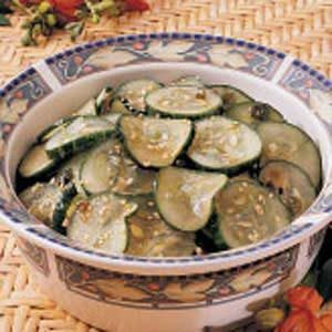 Fresh Sesame Cucumber Salad