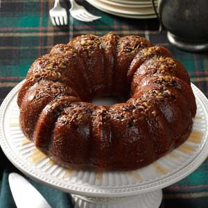 Rum-Glazed Pumpkin Cake Recipe