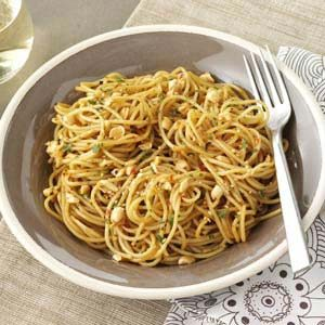Sesame Spaghetti Salad with Peanuts Recipe