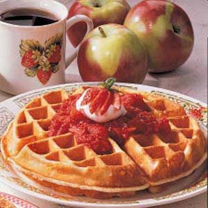 Strawberry-Topped Waffles Recipe