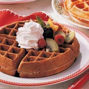 Chocolaty Dessert Waffles Recipe photo by Taste of Home
