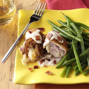 Turkey Cordon Bleu with Alfredo Sauce Recipe