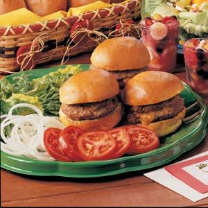 Cheese-Stuffed Burgers Recipe