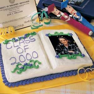 Graduation Photo  Album Cake Recipe
