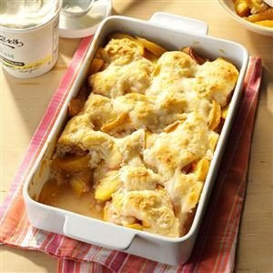 Spiced Peach Cobbler Recipe