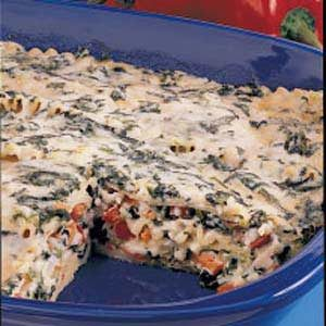 Four-Cheese Spinach Lasagna Recipe