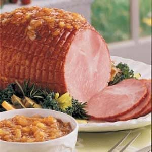 Ham with Sweet Pineapple Sauce Recipe
