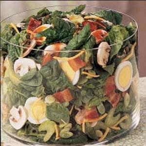Tossed Spinach Salad Recipe