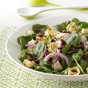 Chicken & Tortellini Spinach Salad Recipe