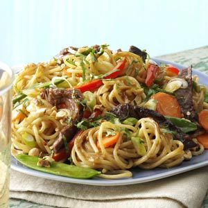 Saucy Thai Beef Noodles Recipe