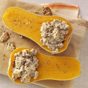 Pecan Stuffed Butternut Squash Recipe
