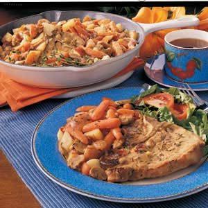 Country Pork Chop Dinner Recipe