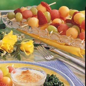 Fruit Kabobs with Dip